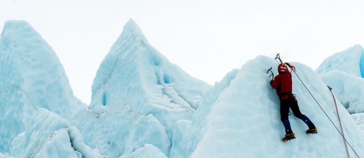 accomplished ice climber