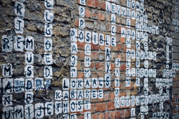 crossword graffiti - lots of words