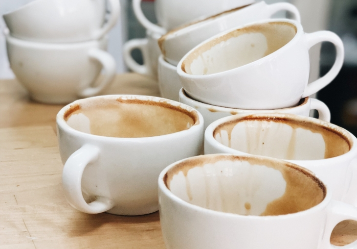 dirty coffee mugs for great dish washers